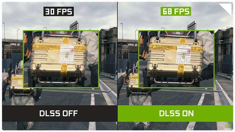 تفاوت ایجاد شده توسط DLSS
