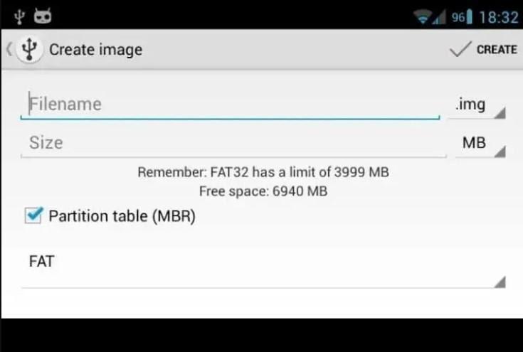 انتخاب حجم و نام فایل برای نصب ویندوز