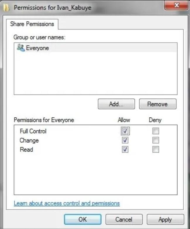 ایجاد دسترسی برای کاربران موجود در شبکه