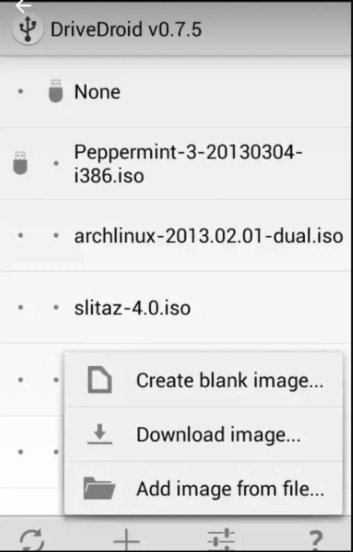 استفاده از نرم افزار DriveDroid جهت نصب ویندوز