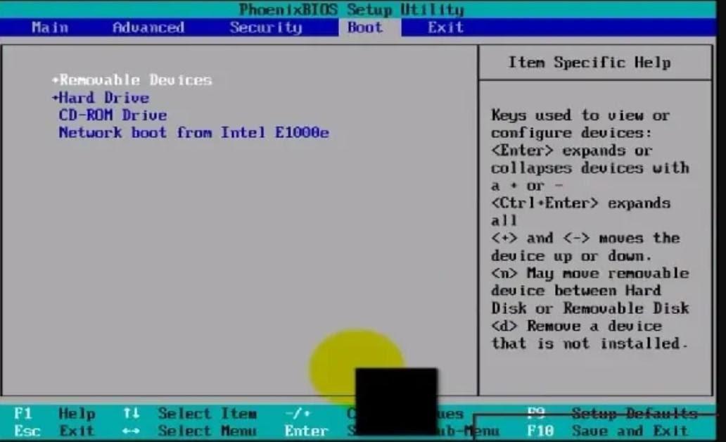تنظیمات BIOS ویندوز