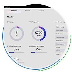 بخش Hardware Monitor در نرم افزار MSI CENTER