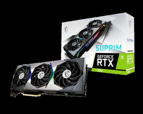 جعبه و بستهبندی کارت گرافیک GeForce RTX 3090 SUPRIM 24G