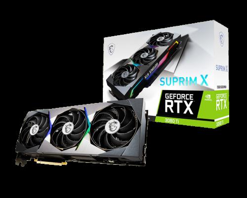 جعبه و بستهبندی کارت گرافیک GeForce RTX 3080 Ti SUPRIM X 12G