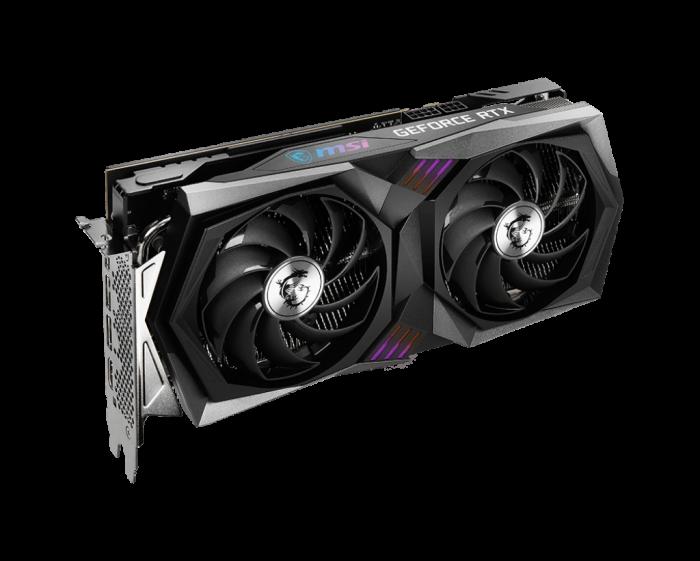 نمای سه رخ کارت گرافیک GeForce RTX™ 3060 Ti GAMING X 8G LHR