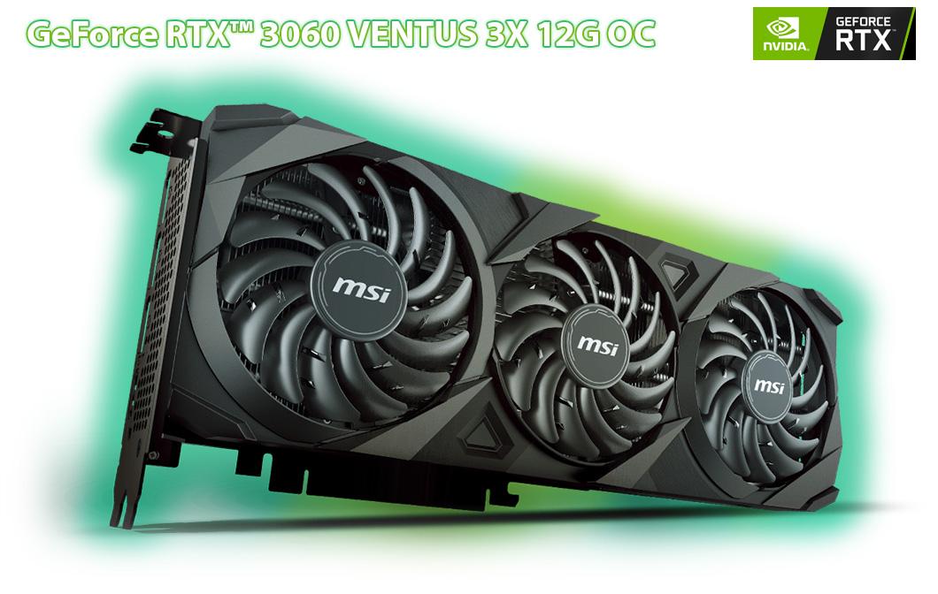 گرافیک قدرتمند MSI RTX 3060 سری VENTUS