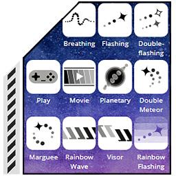 تعیین الگوی رقص نور RGB